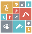 icons tile miscellaneous vector image