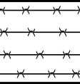 Barbed wire seamless background vector image