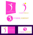 Fitness sport logo icon vector image