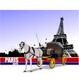 6229 paris trip vector image vector image