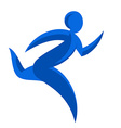 Abstract runner symbol Winner courier logo vector image