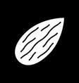 almond dark mode glyph icon vector image vector image