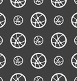 Basketball icon sign Seamless pattern on a gray vector image vector image