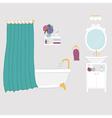 Bathroom interior elements vector image vector image