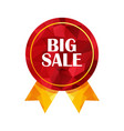 big sale triangle tag vector image vector image