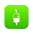 blood donation icon digital green vector image