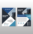 Blue triangle annual report Brochure template vector image vector image