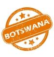 Botswana grunge icon vector image vector image