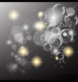 bubble sparkle background vector image vector image