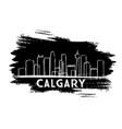 Calgary skyline silhouette hand drawn sketch
