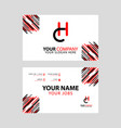 ch logo letter with box decoration on edge vector image vector image