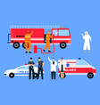 character emergency service vector image vector image