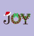 christmas joy vector image