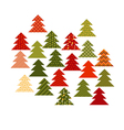 Christmas tree in patchwork style Fir tree pattern vector image vector image