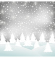 christmas winter forest vector image vector image