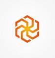 circle technology abstract logo vector image vector image