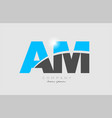 combination letter am a m in grey blue color vector image vector image