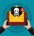 concept virus piracy hacking and security vector image