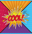 cool pop art concept concept vector image vector image