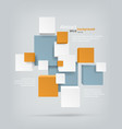 cubes background vector image vector image