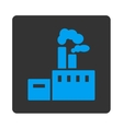 Factory Icon from Commerce Buttons OverColor Set vector image