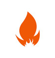 fire logo design vector image