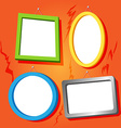Frames on cracked wall vector image vector image