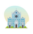 franciscan church of basilica of santa croce vector image