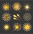 golden cheers fireworks vector image