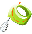 green mixer kitchen electrical equipment for vector image