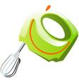 green mixer kitchen electrical equipment vector image