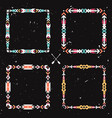 grunge set with abstract geometric ethnic frames vector image vector image