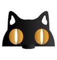 halloween cat mask vector image