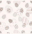 happy easter - seamless egg pattern vector image