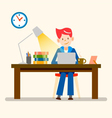 happy people freelance working from home vector image