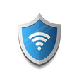 hotspot shield ogo protected wifi connection icon vector image vector image