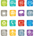 Icon set grunge for web and internet vector image