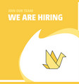 join our team busienss company bird we are hiring vector image vector image