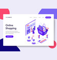landing page template online shopping concept vector image vector image