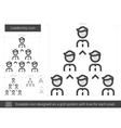 Leadership line icon vector image