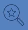 magnifying glass with star color linear icon vector image vector image