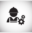 mechanic worker on white background vector image