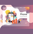 mobile phone website landing page design vector image vector image