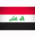 national flag iraq vector image vector image