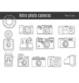 Old retro photo camera set vector image