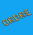 order 3d background vector image