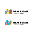 real estate building logo design vector image vector image