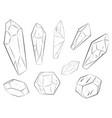 rock crystals set vector image