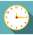 Round wall clock icon flat style vector image vector image