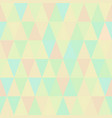 seamless pattern of colorful triangles vector image vector image